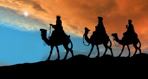 Pics Photos - Art Christmas Wise Men Three Camels Bethlehem In